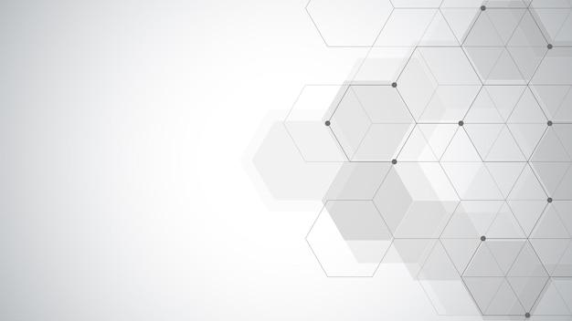 Sfondo astratto geometrico con semplici elementi esagonali