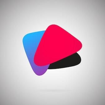 Modello di ventaglio astratto geometrico colorato illustrazione vettoriale