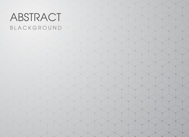 Modello astratto geometrico su sfondo grigio sfumato.