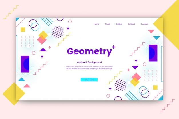 Modello di progettazione sito web astratto geometrico o modello di pagina di destinazione