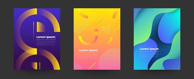 Sfondo geometrico colori vivaci e composizioni di forme dinamiche