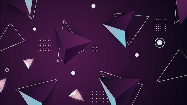 Sfondo geometrico. minimal futuristico. rendering, illustrazione digitale. geometria astratta. forma geometrica. azione .