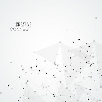 Sfondo geometrico con forme astratte collegate. sfondo moderno