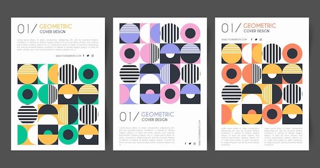Collezione di copertine aziendali geometriche