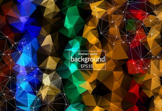 Geometrico colorato sfondo poligonale