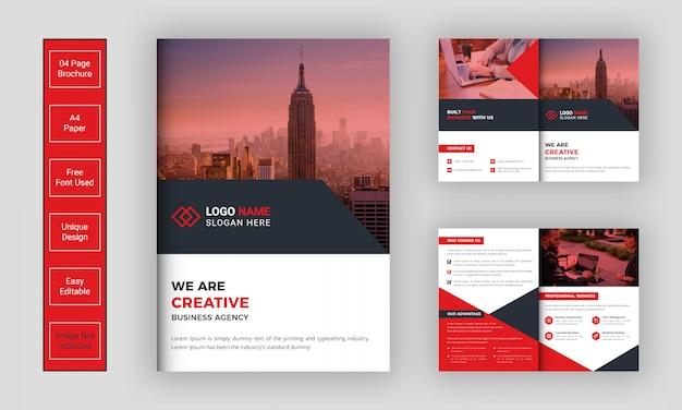 Modello di brochure aziendale bifold geometrico