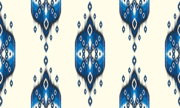 Reticolo senza giunte geometrico etnico orientale ikat.