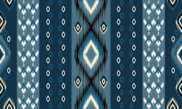 Motivo geometrico etnico orientale tradizionale design per sfondo, moquette, carta da parati, abbigliamento, avvolgimento, batik, tessuto, illustrazione vettoriale. stile ricamo.
