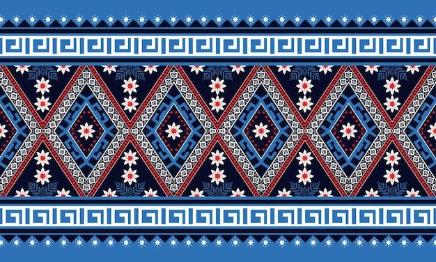 Modello senza cuciture orientale geometrico etnico design tradizionale per sfondo, moquette, carta da parati, abbigliamento, avvolgimento, batik, tessuto, illustrazione vettoriale. stile ricamo.