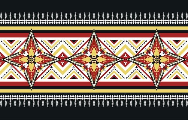 Modello senza cuciture orientale etnico geometrico tradizionale