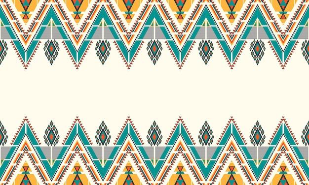 Ricamo geometrico etnico. tappeto, carta da parati, abbigliamento, avvolgimento, batik, tessuto, stile di ricamo di illustrazione vettoriale.
