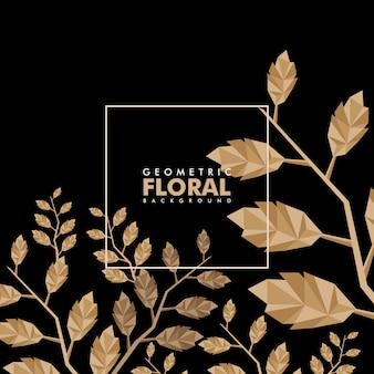 Sfondo floreale geometrico