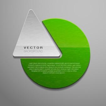 Forme geometriche di trama verde per il testo. forme di affari.