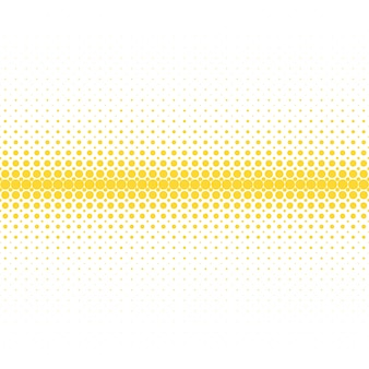 Geometrico sfondo mezzitoni di pattern retrò - grafica vettoriale da cerchi gialli su sfondo bianco
