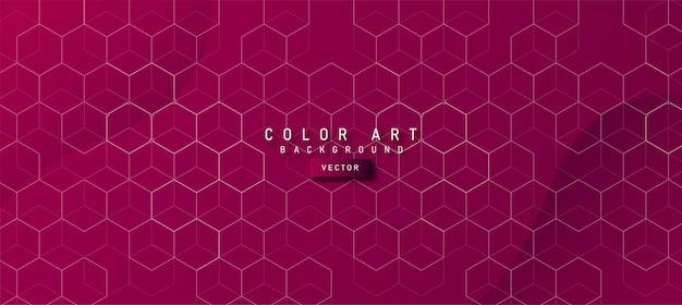 Trama di sfondo esagonale geometrico con sfondo viola