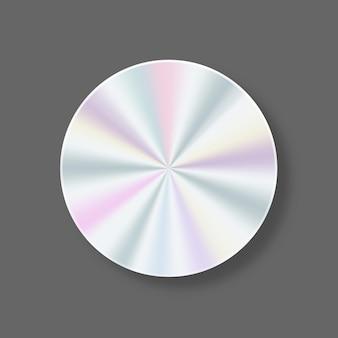 Etichetta olografica geometrica per la garanzia del prodotto design sticker design