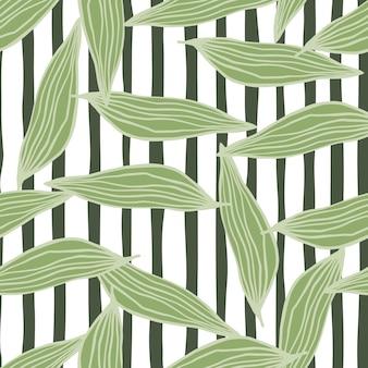 Modello di foglie di linea geometrica. contesto botanico astratto.