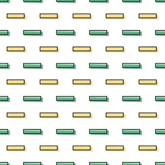 Motivo a linee geometriche, sfondo astratto in stile retrò anni '80 e '90. illustrazione geometrica colorata