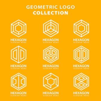 Collezione logo geometrica