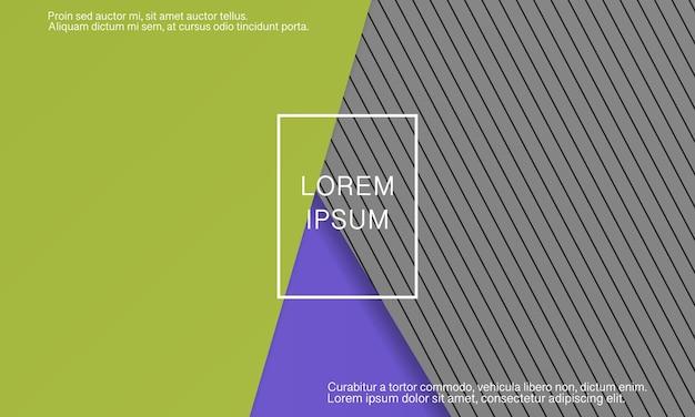 Priorità bassa di disegno materiale geometrico. design minimale astratto della copertina. carta da parati colorata creativa. poster sfumato alla moda. illustrazione vettoriale.