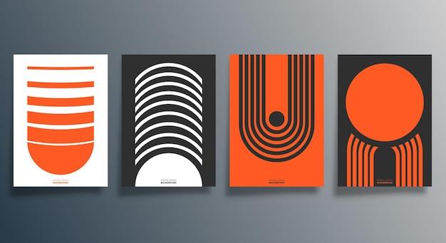 Design geometrico minimale per volantini, poster, copertine di brochure, sfondo, carta da parati, tipografia o altri prodotti di stampa. illustrazione vettoriale.