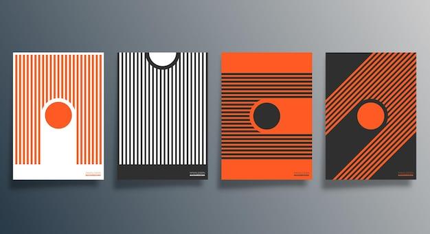Design minimale geometrico per flyer, poster, copertina.
