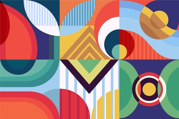 Carta da parati murale geometrica