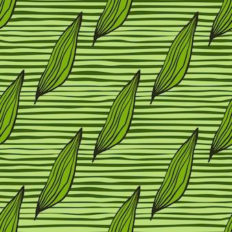 Modello di foglie di linea organica geometrica. contesto botanico astratto. carta da parati creativa della natura. design per tessuto, stampa tessile, avvolgimento, copertina. illustrazione vettoriale semplice.