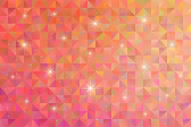 Sfondo motivo geometrico con luce stellare lampeggiante. carta da parati poligonale