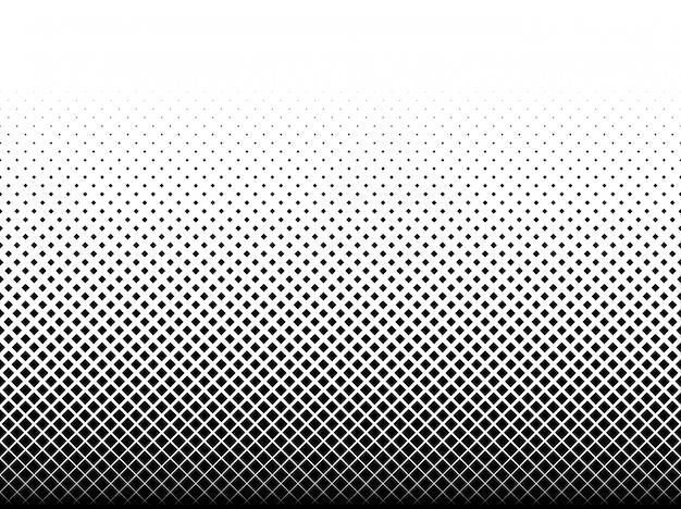 Reticolo geometrico dei quadrati neri su bianco Vettore Premium