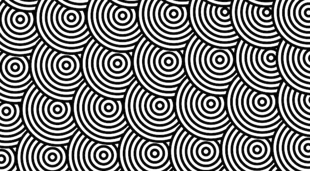 Motivo geometrico con disegno vettoriale di cerchi spogliati.