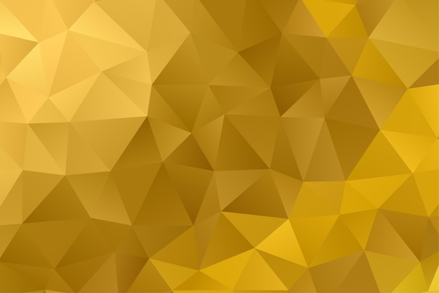 Sfondo geometrico poligono. carta da parati diamante. modello elegante in colore oro