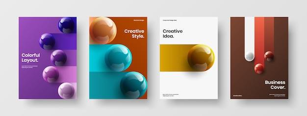 Pacchetto di concetti di design vettoriale di cartoline geometriche