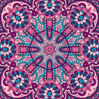 Motivo geometrico mandala psichedelico