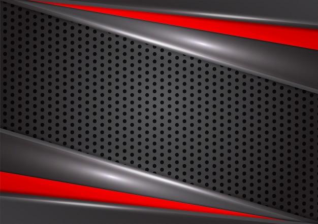 Fondo astratto geometrico di colore rosso e nero