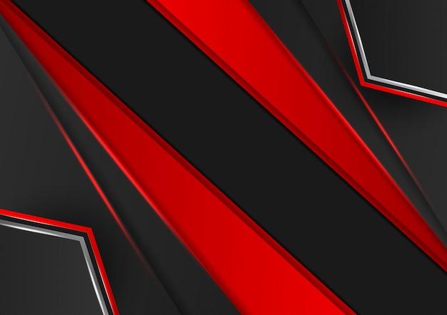 Priorità bassa astratta di colore rosso e nero geometrico