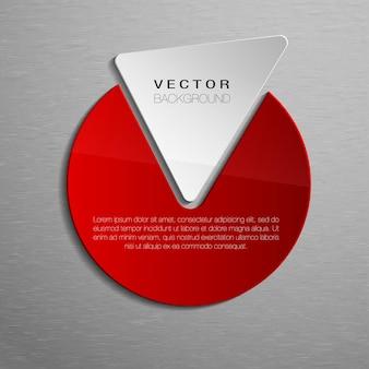 Forme geometriche rosse per il testo sullo sfondo della trama. forme di affari.