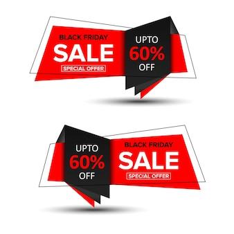 Vendita geometrica e banner promozionali tag modello di progettazione