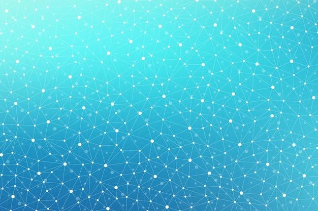 Motivo geometrico scientifico con linee e punti