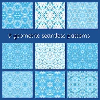 Patern geometrici senza soluzione di continuità per biglietti invernali, inviti, poster,