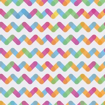 Sfondo geometrico senza soluzione di continuità. tema di elementi geometrici colorati
