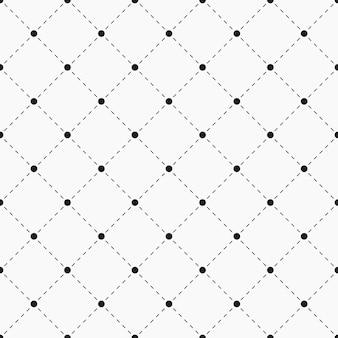 Modello senza cuciture geometrico. punti con linee tratteggiate. trama a pois con rombo. campione per prodotti tessili. illustrazione vettoriale.