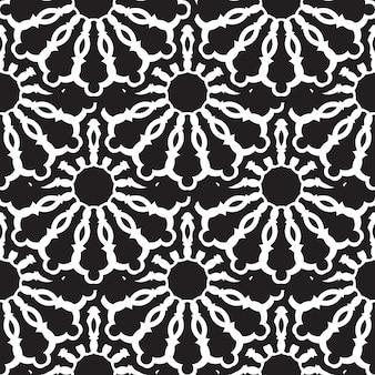 Motivo geometrico senza soluzione di continuità, design di piastrelle marocchine, sfondo di piastrelle nere senza soluzione di continuità