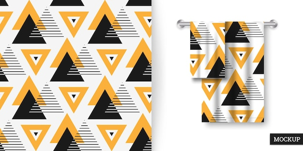 Modello senza cuciture geometrico con triangoli