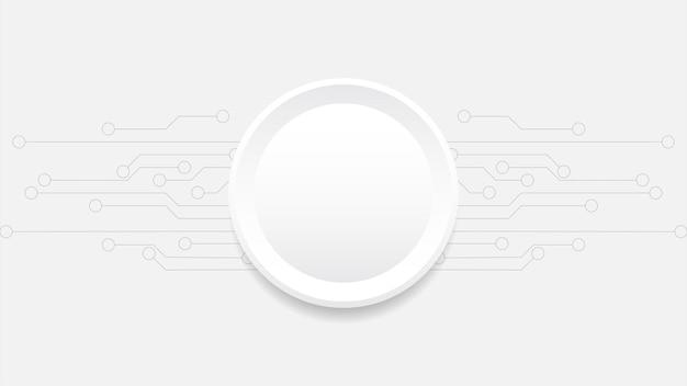 Forma geometrica sfera sfondo bianco modello orizzontale di sfondo di linea tecnologia decorativa per prodotti pubblicitari banner web.