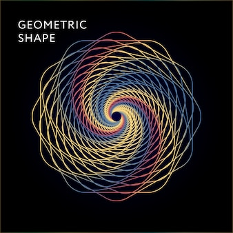 Gradiente dell'illustrazione del grafico di vettore di forma geometrica