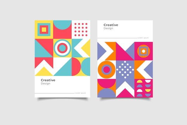 Copertina aziendale di forme geometriche