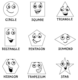 Libro da colorare forme geometriche