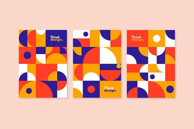 Collezione di copertine di forme geometriche