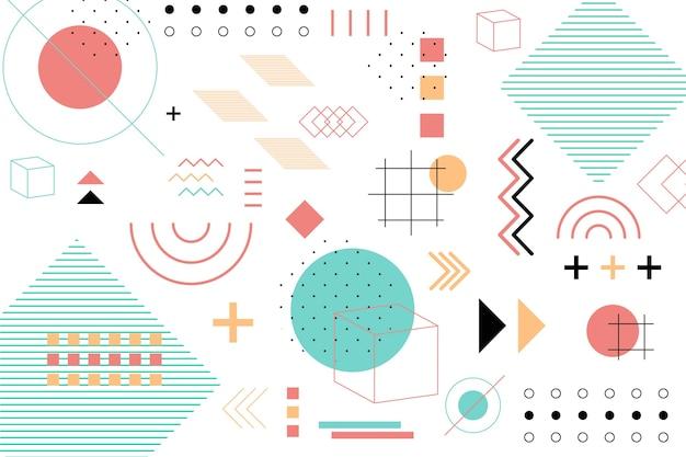 Sfondo piatto di forme geometriche